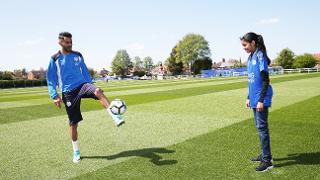 Riyad Mahrez meets Premier League Kicks hero