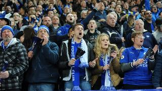 Supporters at King Power Stadium
