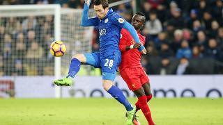 Christian Fuchs against Liverpool