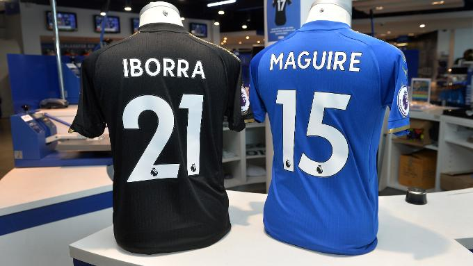 Vicente Iborra and Harry Maguire s new shirt numbers fc59b3665