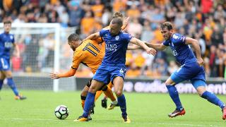 Danny Drinkwater battles for possession
