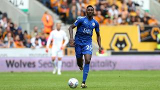 Wilfred Ndidi brings the ball out