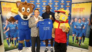 Filbert Fox And Emile Heskey With DHL