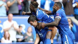 Harry Maguire celebrates with team-mates