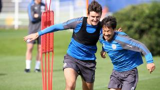 Harry Maguire and Shinji Okazaki