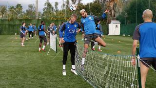Kasper Schmeichel and Riyad Mahrez
