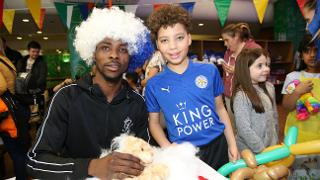 Iheanacho and Young Leicester Fan