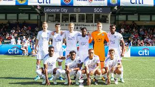 Leicester City's youngsters in Hong Kong