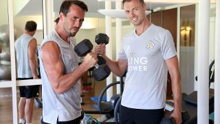 Christian Fuchs and Jonny Evans