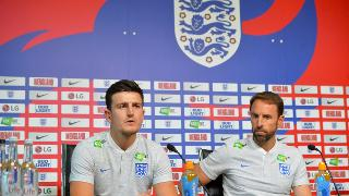 Harry Maguire and Gareth Southgate