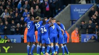 Leicester City celebrate against Watford