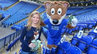 Rachel Riley and Filbert Fox