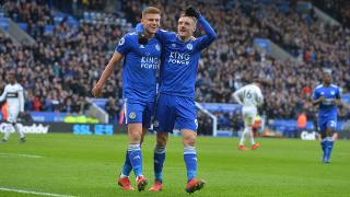 Jamie Vardy and Harvey Barnes