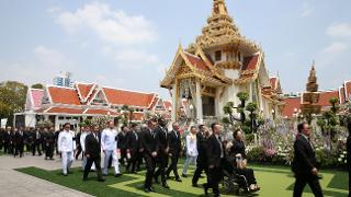 Leicester City at Khun Vichai's cremation ceremony