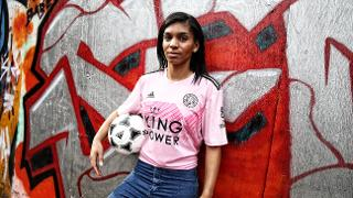 Leicester City's 2019/20 true pink away shirt