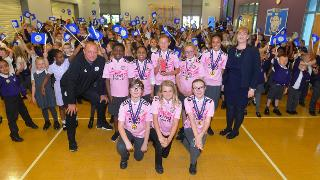 Matt Elliott and City's Premier League Primary Stars winners