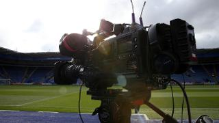 Broadcast cameras at King Power Stadium