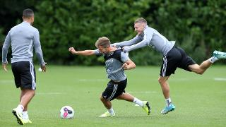 Jamie Vardy and Marc Albrighton