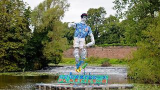 Plastic striker in Abbey Park
