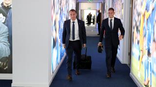 Brendan Rodgers and Marc Albrighton