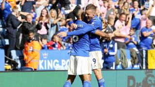Youri Tielemans and Jamie Vardy