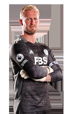 The 34-yaşında 189 cm uzunluğunda Kasper Schmeichel tarihli 2021